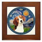 Starry Night Beagle #1 Framed Tile