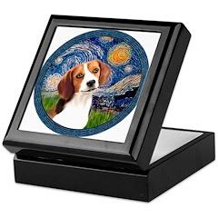 Starry Night Beagle #1 Keepsake Box