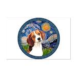 Starry Night Beagle #1 Mini Poster Print