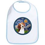 Starry Night Beagle #1 Bib