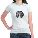 Starry Night Beagle #1 Jr. Ringer T-Shirt