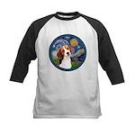 Starry Night Beagle #1 Kids Baseball Jersey