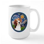 Starry Night Beagle #1 Large Mug