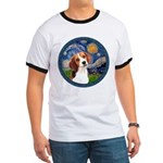 Starry Night Beagle #1 Ringer T