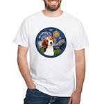Starry Night Beagle #1 White T-Shirt