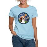 Starry Night Beagle #1 Women's Light T-Shirt