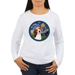 Starry Night Beagle #1 Women's Long Sleeve T-Shirt