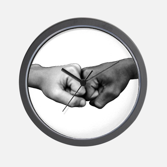Fist Bump Wall Clock