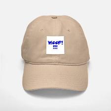 WOOF!!!!/BLUE TEXTURED Baseball Baseball Cap