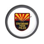 Greyhound Police Wall Clock