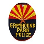 Greyhound Police Oval Ornament