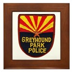 Greyhound Police Framed Tile
