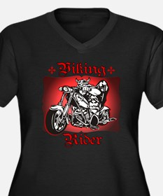 Viking Rider Women's Plus Size V-Neck Dark T-Shirt