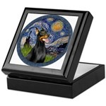 Starry Night Doberman (#1) Keepsake Box