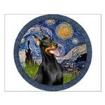 Starry Night Doberman (#1) Small Poster