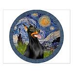 Starry Night Doberman (#1) Small Poster