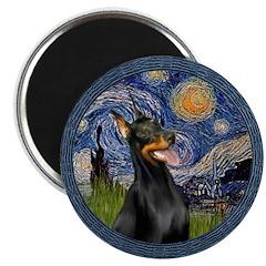 Starry Night Doberman (#1) 2.25