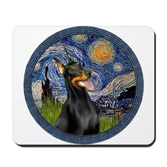 Starry Night Doberman (#1) Mousepad