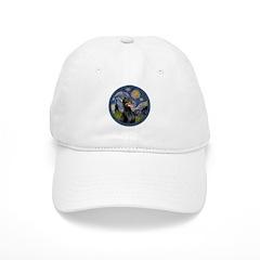 Starry Night Doberman (#1) Baseball Cap