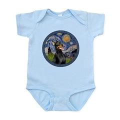 Starry Night Doberman (#1) Infant Bodysuit