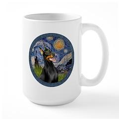 Starry Night Doberman (#1) Mug