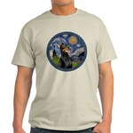 Starry Night Doberman (#1) Light T-Shirt