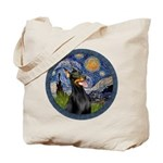 Starry Night Doberman (#1) Tote Bag