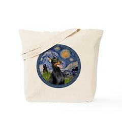 Starry Night Doberman (#1) Tote Bag