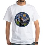 Starry Night Doberman (#1) White T-Shirt