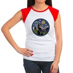 Starry Night Doberman (#1) Women's Cap Sleeve T-Sh