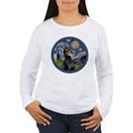 Starry Night Doberman (#1) Women's Long Sleeve T-S