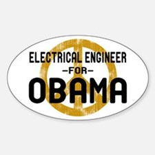 EE for Obama Oval Decal