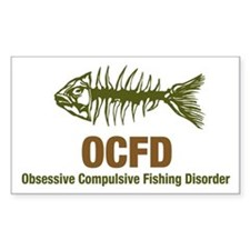 OCFD Obsessive Fishing Rectangle Decal