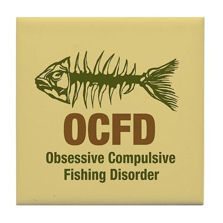 OCFD Obsessive Fishing Tile Coaster