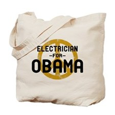 Electrician for Obama Tote Bag
