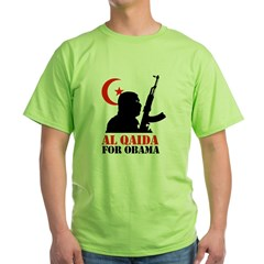 Al Qaida for Obama Green T-Shirt