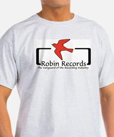 Robin Records Ash Grey T-Shirt