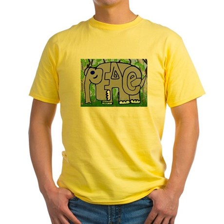 Peace Elephant Yellow T-Shirt