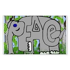 Peace Elephant Rectangle Decal