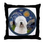 Starry Old English (#3) Throw Pillow