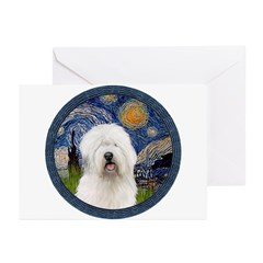 Starry Old English (#3) Greeting Cards (Pk of 20)