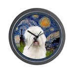 Starry Old English (#3) Wall Clock