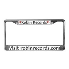 Robin Records License Plate Frame