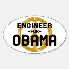 Engineer for Obama Oval Decal