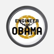 Engineer for Obama Wall Clock
