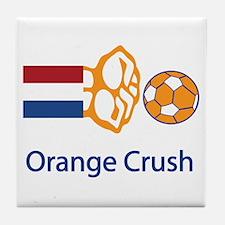 """Whooligan Netherlands """"Orange Crush"""" Tile Coaster"""