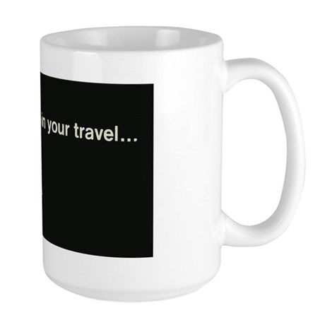 Penn Central Railroad Travel Logo Large Mug