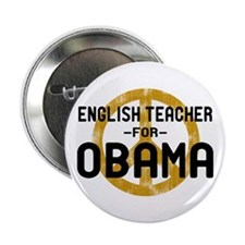"""English Tchr for Obama 2.25"""" Button"""