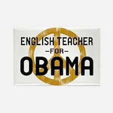 English Tchr for Obama Rectangle Magnet