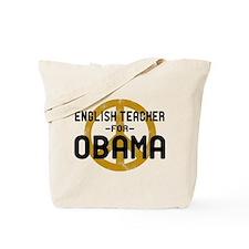 English Tchr for Obama Tote Bag
